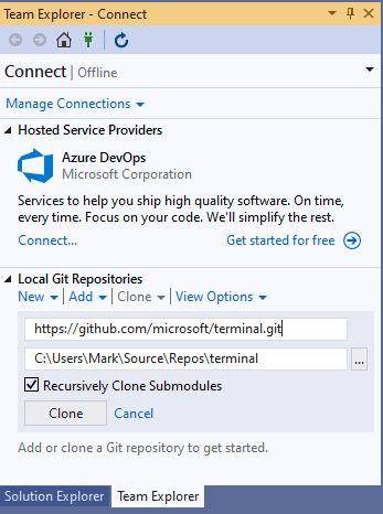 Building and running Windows Terminal | blog ukotic net